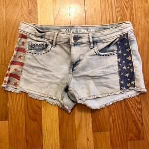American Flag Cut-off Jean Shorts